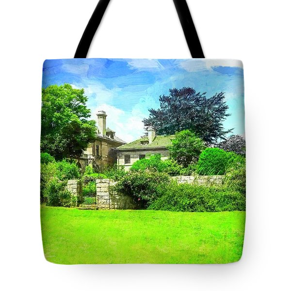 Mansion And Gardens At Harkness Park. Tote Bag