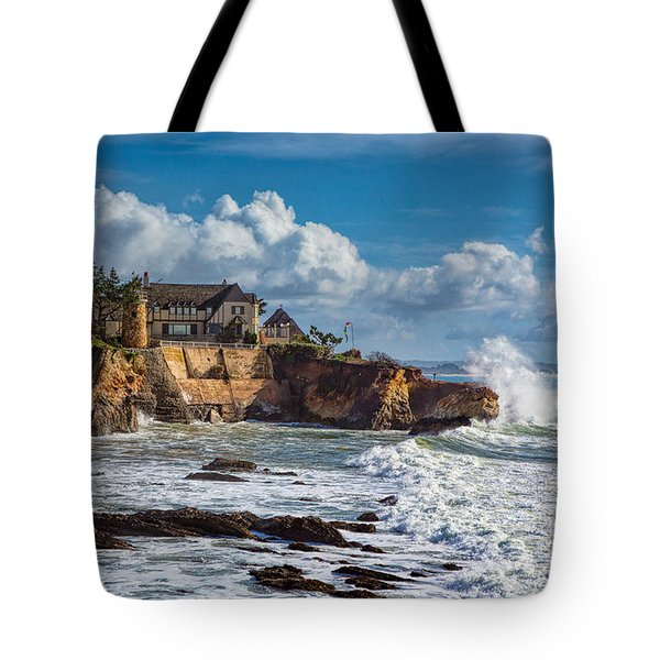 Mansion On The Cliffs Tote Bag