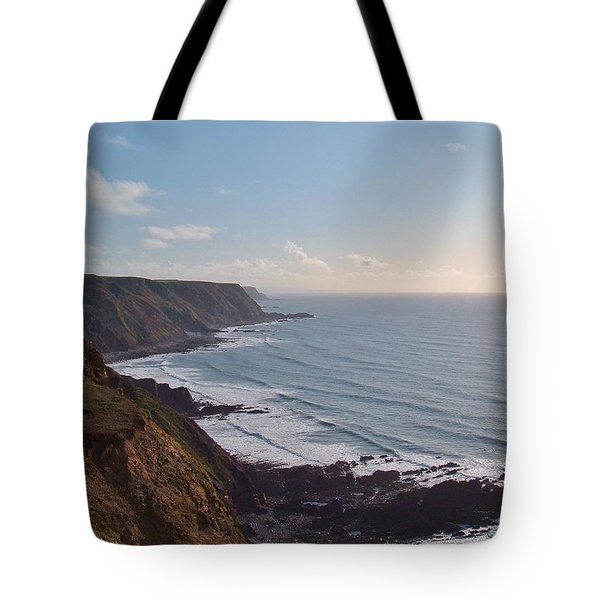 Mansley Cliff And Gull Rock From Longpeak Tote Bag