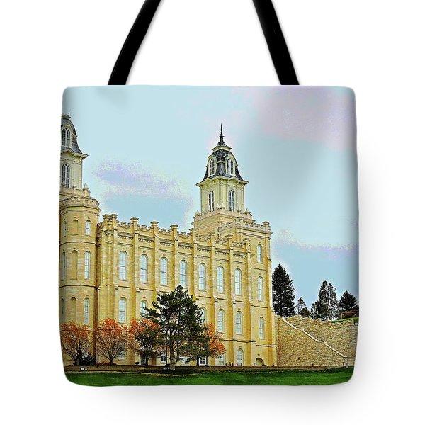 Manti Temple Tote Bag