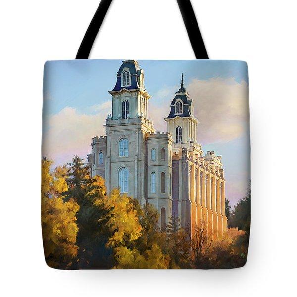 Manti Temple Tall Tote Bag