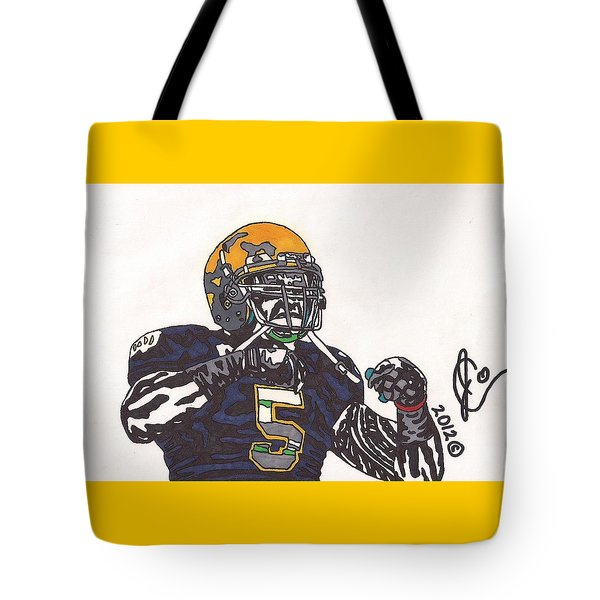 Manti Te'o 1 Tote Bag by Jeremiah Colley