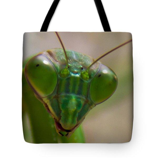 Mantis Face Tote Bag