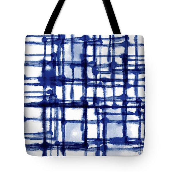 Mantra In Blue- Art By Linda Woods Tote Bag