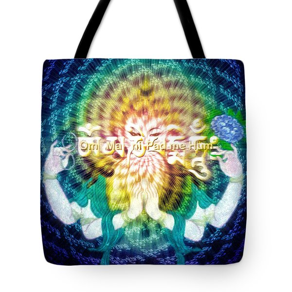 Mantra Of Compassion Tote Bag