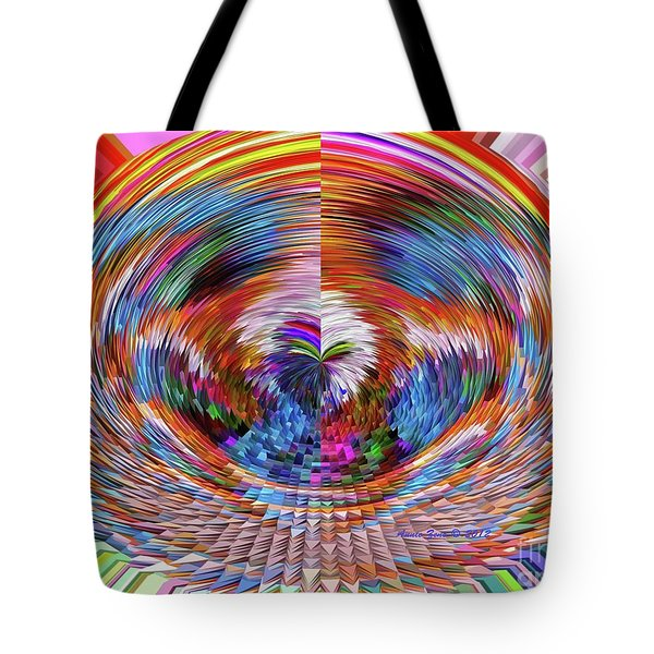 Many Colors Of Love  Tote Bag by Annie Zeno