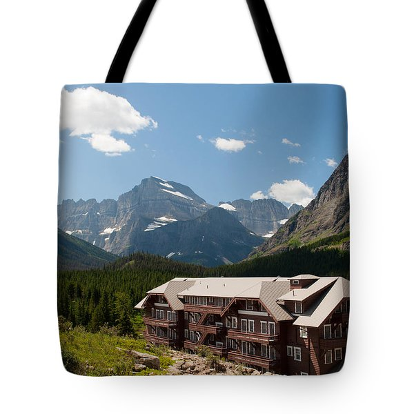 Many Glacier Hotel Tote Bag by Bruce Gourley