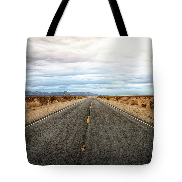 Many Miles Through Mojave Desert Tote Bag