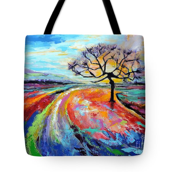 Many Paths, One Destination Tote Bag by Jodie Marie Anne Richardson Traugott          aka jm-ART