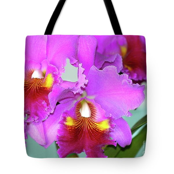 Many Purple Orchids Tote Bag by Lehua Pekelo-Stearns
