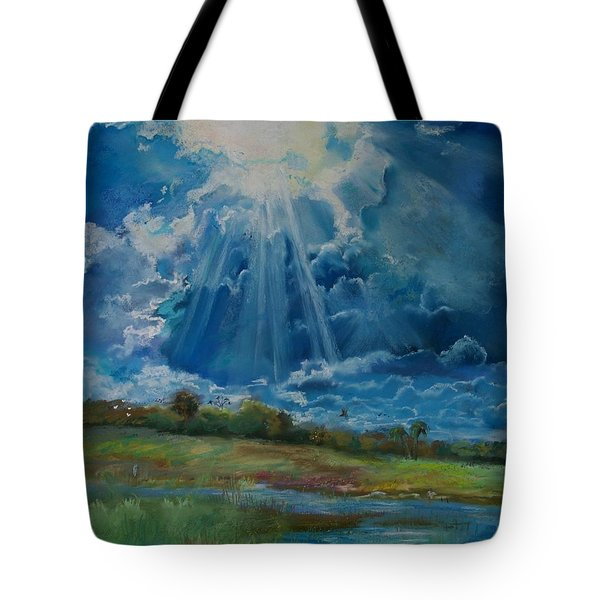 Tote Bag featuring the pastel Many The Miles by Robin Maria Pedrero