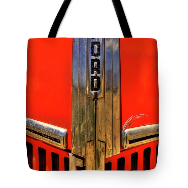 Manzanar Fire Truck Hood And Grill Detail Tote Bag