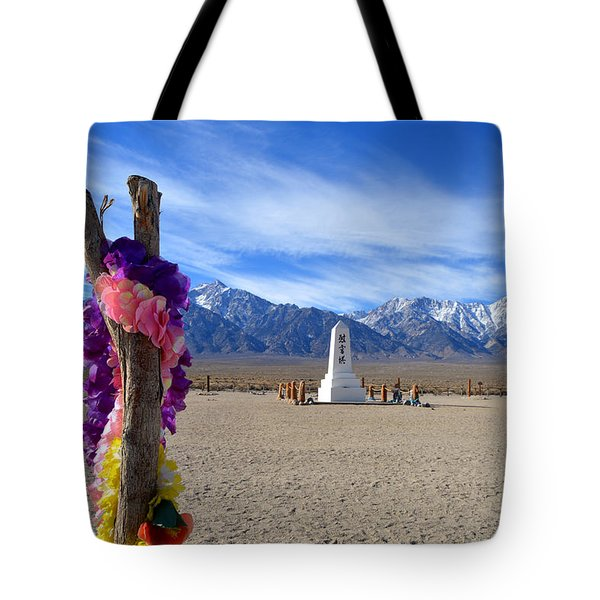 Manzanar Tote Bag by Nature Macabre Photography