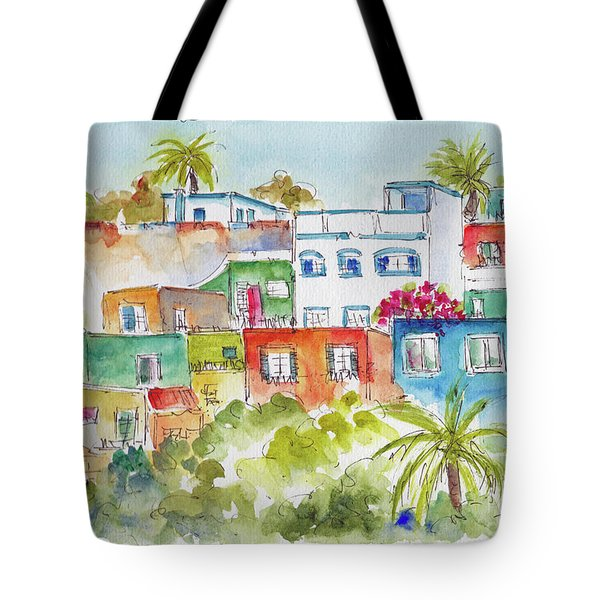 Manzanillo Hillside Tote Bag