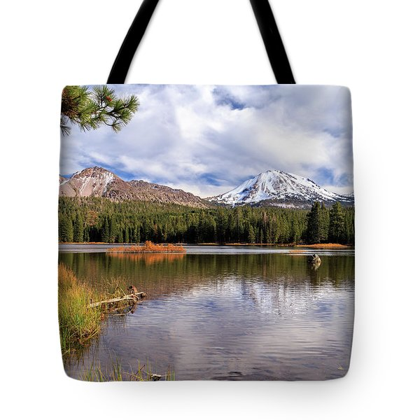 Tote Bag featuring the photograph Manzanita Lake - Mount Lassen by James Eddy