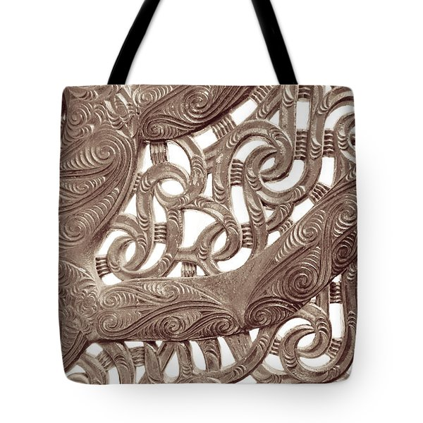 Maori Abstract Tote Bag by Denise Bird