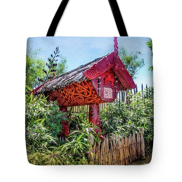 Maori Home In New Zealand Tote Bag