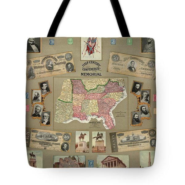 Map: Confederate States Tote Bag by Granger