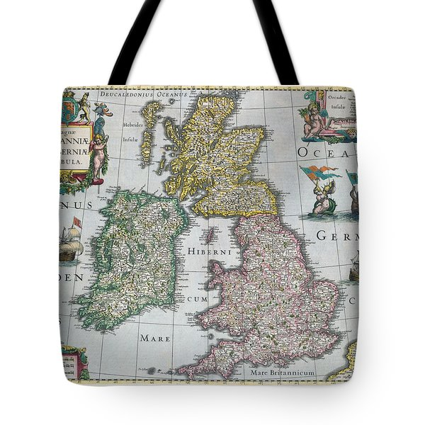 Map Of Britain Tote Bag by English school