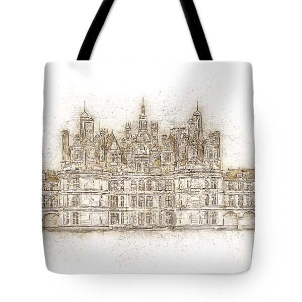 Map Of The Castle Chambord Tote Bag by Anton Kalinichev