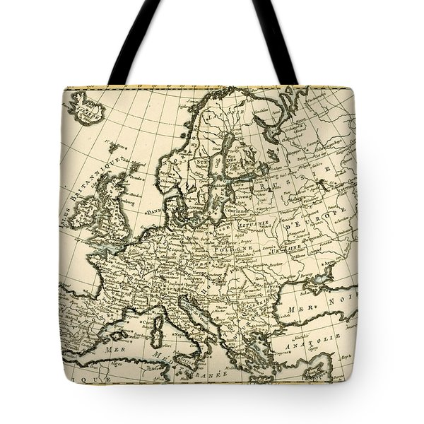 Map Of Europe Tote Bag by Guillaume Raynal