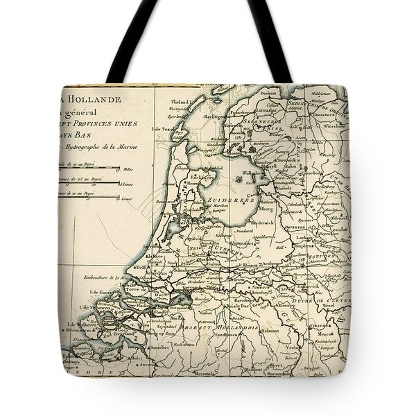 Map Of Holland Including The Seven United Provinces Of The Low Countries Tote Bag by Guillaume Raynal