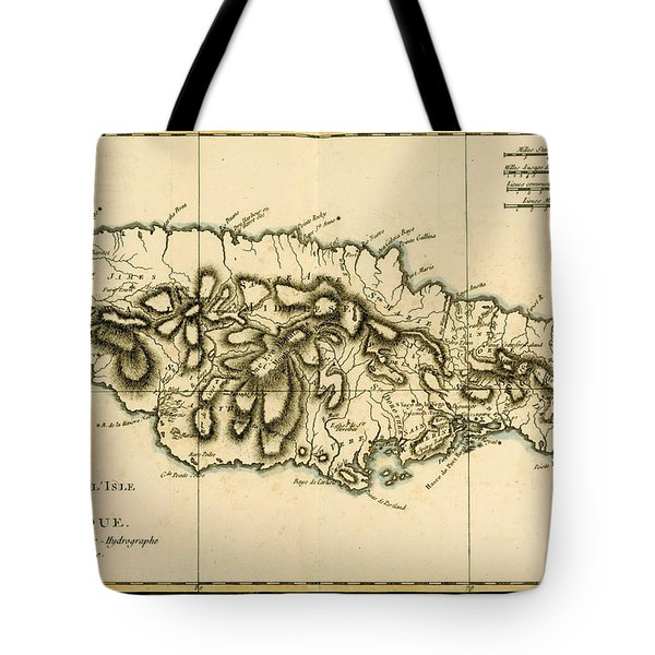 Map Of Jamaica Tote Bag by Guillaume Raynal