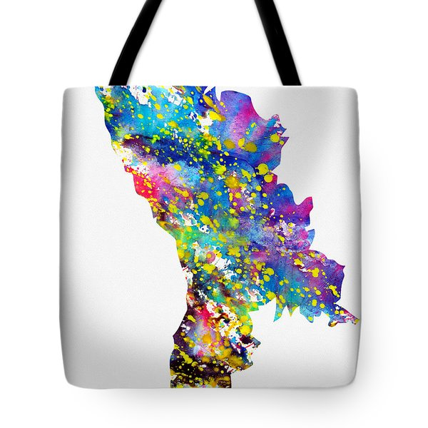 Map Of Moldova-colorful Tote Bag