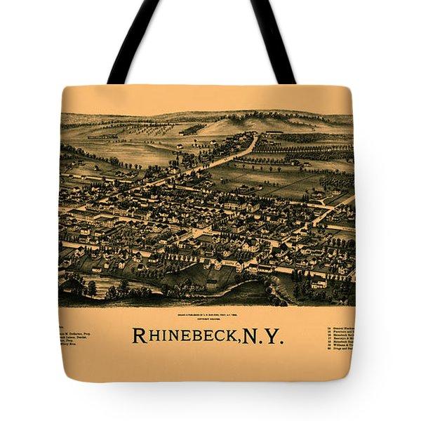 Map Of Rhinebeck 1890 Tote Bag