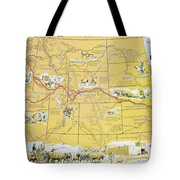 Map Of The Old Oregon Trail Tote Bag
