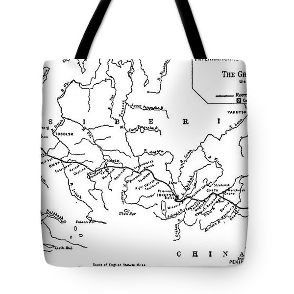 Map Of The Trans-siberian Railway Tote Bag
