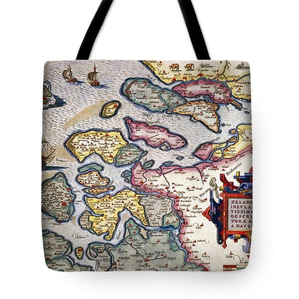 Map Of Zeeland Tote Bag by Abraham Ortelius