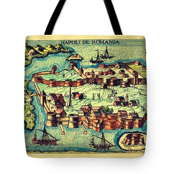 Map Seaport Tote Bag