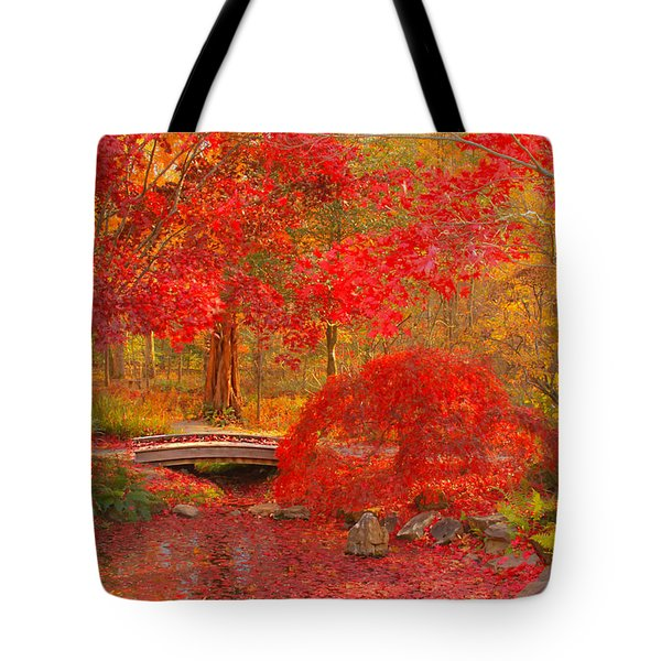 Tote Bag featuring the photograph Maple Bridge by Geraldine DeBoer