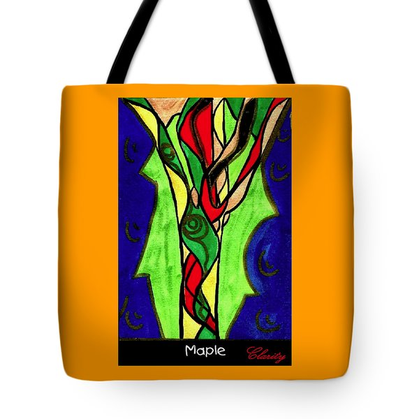 Tote Bag featuring the painting Maple by Clarity Artists