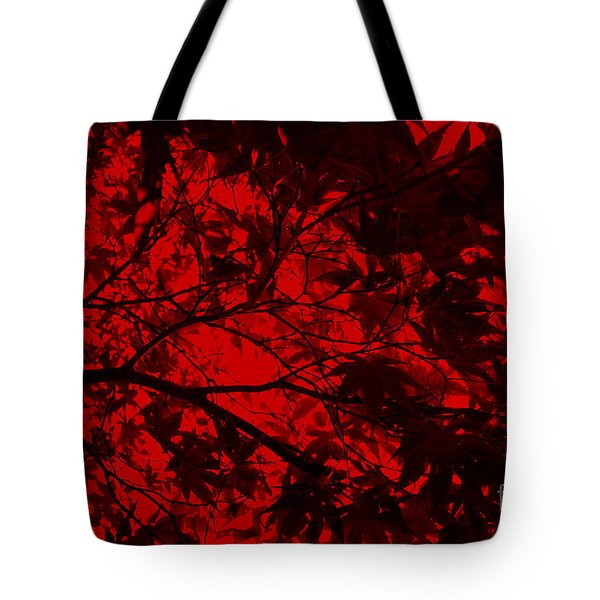 Maple Dance In Red Velvet Tote Bag