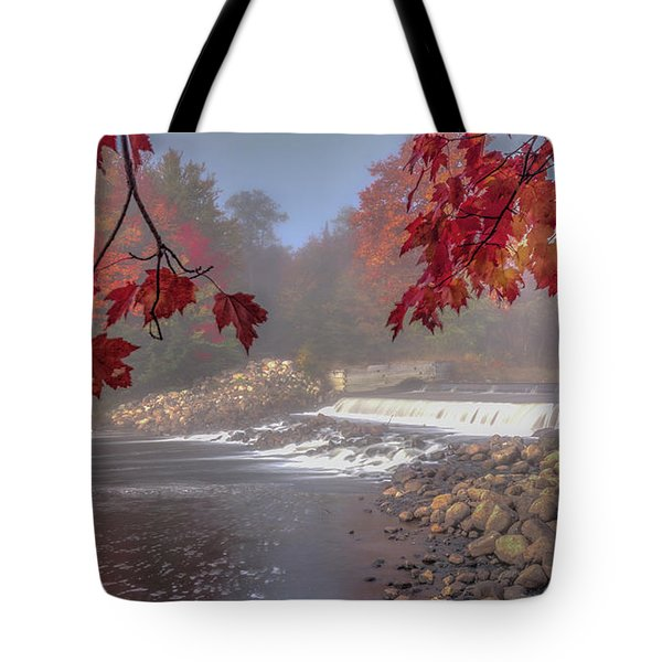 Maple Leaf Frame Ws Tote Bag