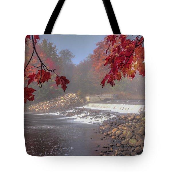 Maple Leaf Frame Ws Tote Bag