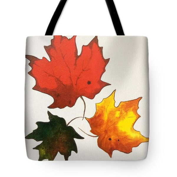 Maple Leaf Trio Tote Bag