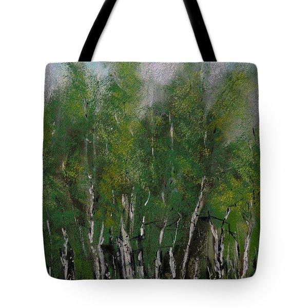 Maple Ridge Birch Trees Tote Bag