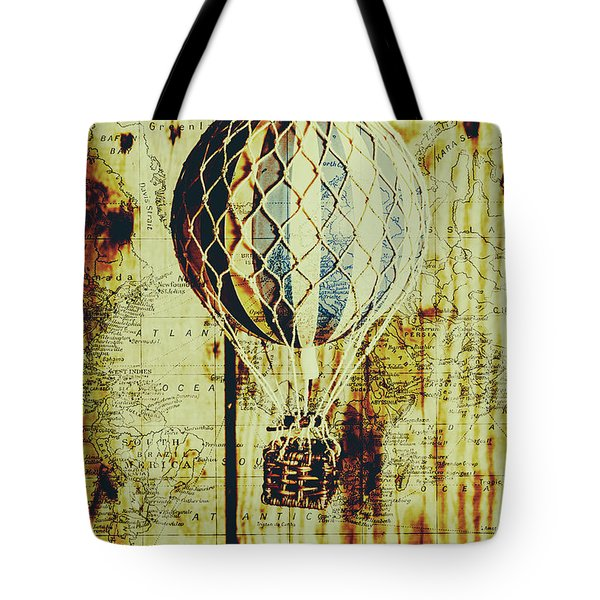 Mapping A Hot Air Balloon Tote Bag