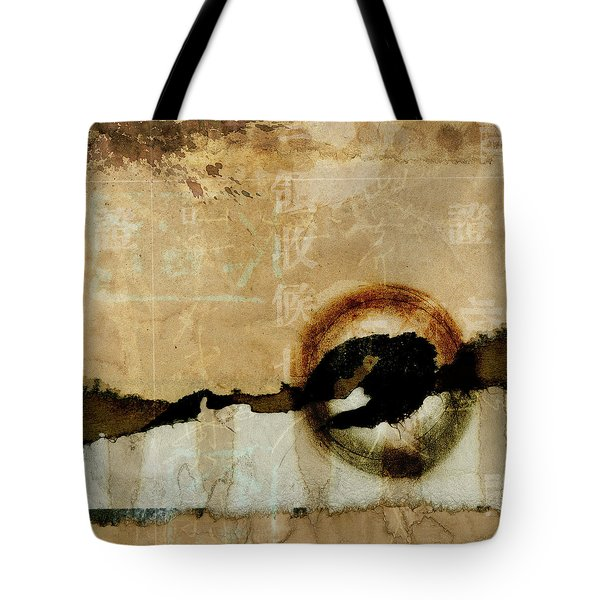 Mapping The Mountains Mixed Media Tote Bag