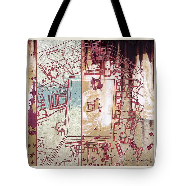 Maps #27 Tote Bag by Joan Ladendorf