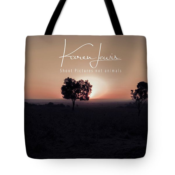Tote Bag featuring the photograph Mara Morning by Karen Lewis