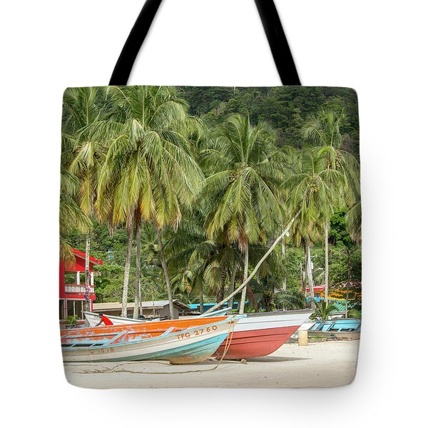 Tote Bag featuring the photograph Maracas Fishing Village by Rachel Lee Young