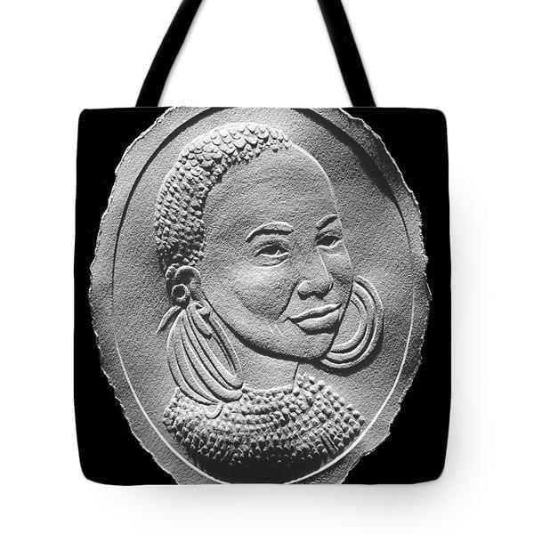 Marakwet Tribe Woman Relief Portrait Tote Bag