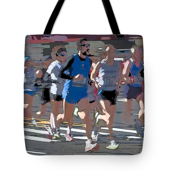 Marathon Runners I Tote Bag by Clarence Holmes