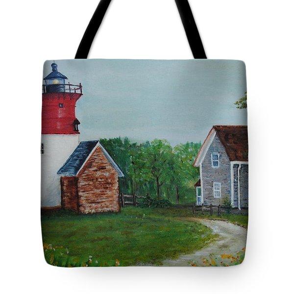 Marbelhead Lighthouse Tote Bag
