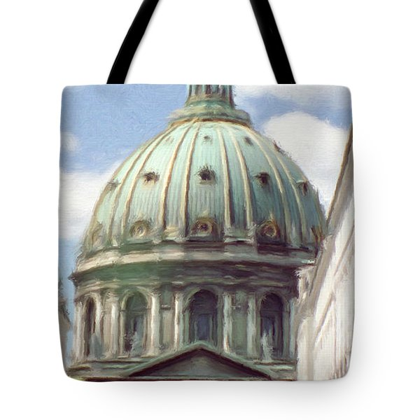 Marble Church Tote Bag by Jeff Kolker
