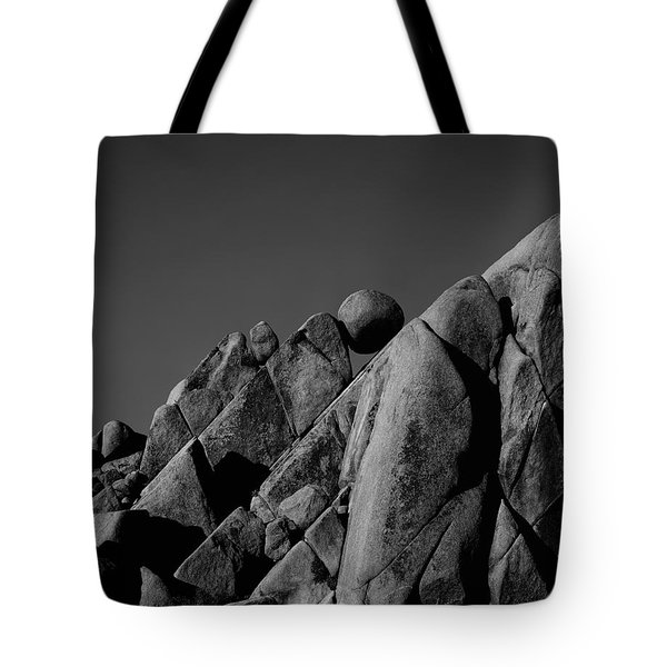 Marble Rock Formation B And W Version Tote Bag